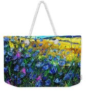 Blue Wild Chicorees Weekender Tote Bag