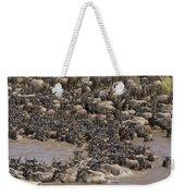 Blue Wildebeest Migration Weekender Tote Bag