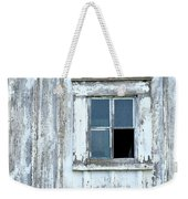 Blue Window In Weathered Wall Weekender Tote Bag