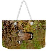 Blue-winged Teal Drake Weekender Tote Bag