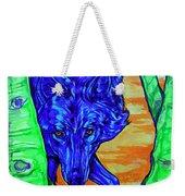 Blue Wolf Weekender Tote Bag
