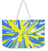 Blue Yellow White Swirl Weekender Tote Bag