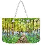 Bluebell Wood Watercolour Weekender Tote Bag