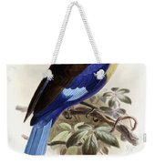 Bluebellied Roller Weekender Tote Bag by Johan Gerard Keulemans