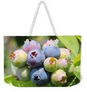 Blueberries Closeup Weekender Tote Bag