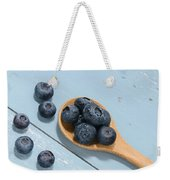 Blueberries On A Spoon Weekender Tote Bag
