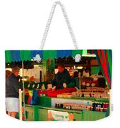 Blueberries Strawberry Jam Baskets Ferme Racine Petits Fruits Jean Talon Market Scene Carole Spandau Weekender Tote Bag