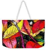 Blueberry Autumn Leaves Weekender Tote Bag