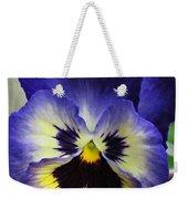 Blueberry Pansy Weekender Tote Bag