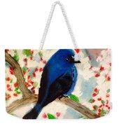 Bluebird Amid Apple Blossoms Weekender Tote Bag