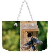 Bluebird At Nest Weekender Tote Bag