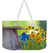 Bluebird Flying Thru Black Eyed Susans Weekender Tote Bag