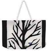 Bluebird In A Pear Tree Weekender Tote Bag