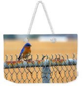 Bluebird On A Fence Weekender Tote Bag