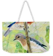 Bluebird Pair Weekender Tote Bag