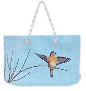 Bluebird Wings - Minimalism Weekender Tote Bag