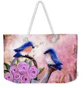Bluebirds And Butterflies Weekender Tote Bag