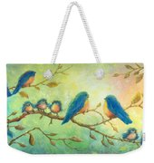 Bluebirds On Branches Weekender Tote Bag