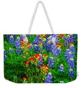 Bluebonnet Patch Weekender Tote Bag by Inge Johnsson