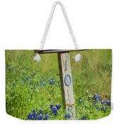 Bluebonnets And Mailbox Weekender Tote Bag