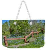 Bluebonnets And Stairs Weekender Tote Bag