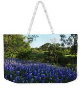 Bluebonnets By The Pond Weekender Tote Bag