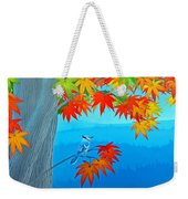 Bluejay In The Fall Weekender Tote Bag