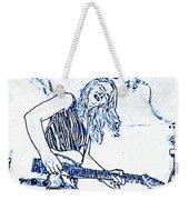 Blues In Blue Weekender Tote Bag