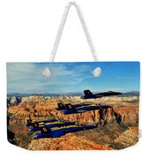 Blues Over Zion Weekender Tote Bag by Benjamin Yeager