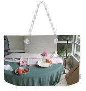 Blur Bottle And Peony And Background Weekender Tote Bag