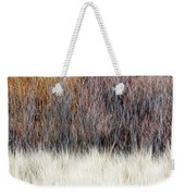 Blurred Brown Winter Woodland Background Weekender Tote Bag