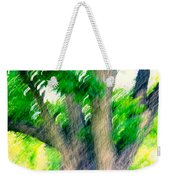 Blurred Pecan Weekender Tote Bag