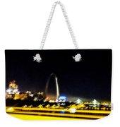 Blurry Waterfront 3 Weekender Tote Bag