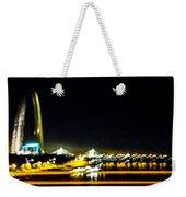 Blurry Waterfront 4 Weekender Tote Bag