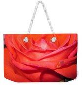 Blushing Orange Rose 7 Weekender Tote Bag