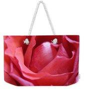 Blushing Pink Rose Weekender Tote Bag