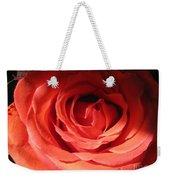 Blushing Orange Rose 3 Weekender Tote Bag