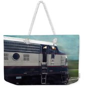 Bn F9 Train Engine Textured Weekender Tote Bag