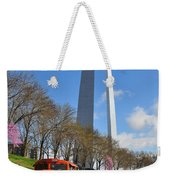 Bnsf Ore Train And St. Louis Gateway Arch Weekender Tote Bag