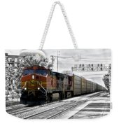 Bnsf Train Weekender Tote Bag