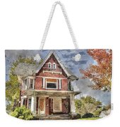 Boarded Up Old Characer Home Watercolor Weekender Tote Bag