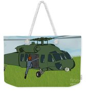 Boarding A Helicopter Weekender Tote Bag