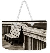 Boardwalk Bench Weekender Tote Bag