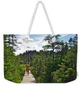 Boardwalk In Salmonier Nature Park-nl Weekender Tote Bag