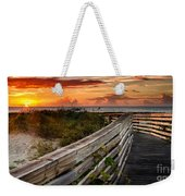 Boardwalk Sunrise Amelia Island Florida Weekender Tote Bag