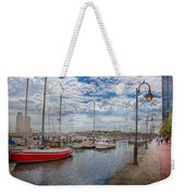 Boat - Baltimore Md - One Fine Day In Baltimore  Weekender Tote Bag