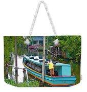 Boat For Transportation On Canals In Bangkok-thailand Weekender Tote Bag