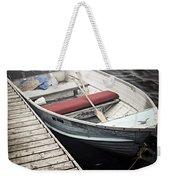 Boat In Fog Weekender Tote Bag by Elena Elisseeva