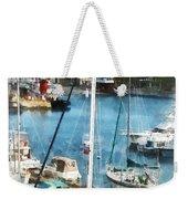 Boat - King's Wharf Bermuda Weekender Tote Bag