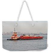 Boat Meet Barge Weekender Tote Bag